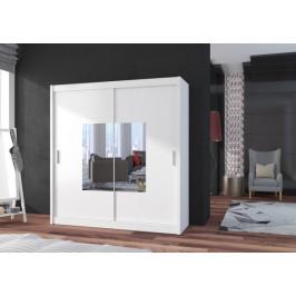 Šatní skříň Eira - 203x215x61 (bílá)