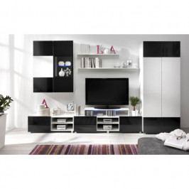 dodání 30 dní - Luxusní nábytek do obývacího pokoje GORDIA 6 bílý+černý