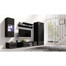 dodání 30 dní - Levný nábytek do obýváku GORDIA sestava 13 Černý
