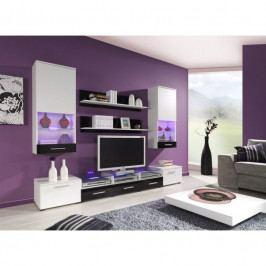 dodání 30 dní - Luxusní obývací stěna CAMA 2A Bílý / Černý lesk