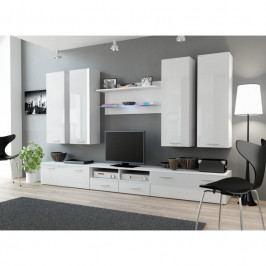 dodání 30 dní - Elegantní nábytek do obýváku DREAM 3A Bílý / bílý lesk