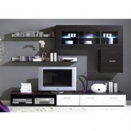 dodání 30 dní - Moderní obývací stěna LOGO 1A Wenge / Bílý lesk