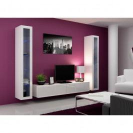 dodání 30 dní - Levná obývací stěna VIGO 5 Bílý / bílý lesk