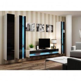 dodání 30 dní - Moderní nábytek do obýváku VIGO NEW 6 Bílý / Černý lesk
