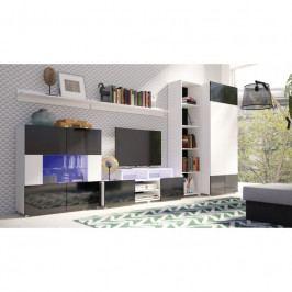 dodání 30 dní - Levná obývací stěna GORDIA sestava 1 bílý+černý