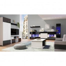 dodání 30 dní - Trendy nábytek do obýváku GORDIA sestava 14 bílý+černý