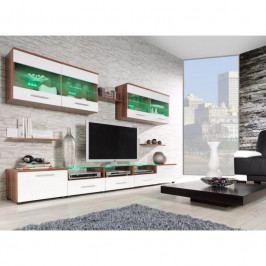 dodání 30 dní - Moderní obývací stěna CAMA 1B Švestka / Bílý lesk