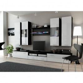 dodání 30 dní - Trendy nábytek do obýváku DREAM 2C Černý / Bílý lesk