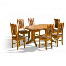 dodání 30 dní - Stůl Mars 2 + židle P-2 (6ks.) - sestava MM18