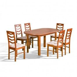 dodání 30 dní - Stůl ORION P + židle P-9 (6ks.) - sestava MM30