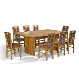 dodání 30 dní - Stůl Rafał + židle P-18 (8ks.) - sestava MM22