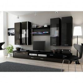 dodání 30 dní - Stylový nábytek do obýváku DREAM 2D Černý / Černý lesk