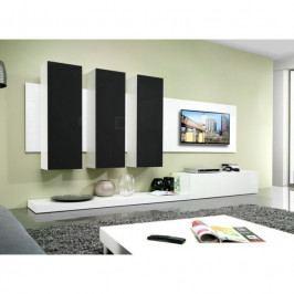 dodání 30 dní - Elegantní obývací stěna LIFE B Bílý / Černý lesk