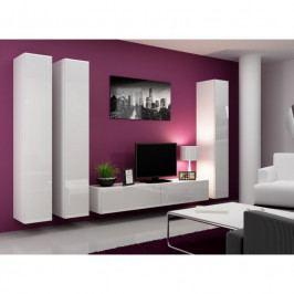 dodání 30 dní - Obývací stěna VIGO 1 Bílý / bílý lesk