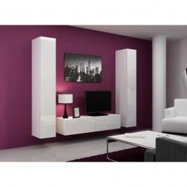 dodání 30 dní - Obývací stěna VIGO 9 Bílý / bílý lesk
