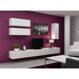 dodání 30 dní - Elegantní obývací stěna VIGO 13 Bílý / bílý lesk