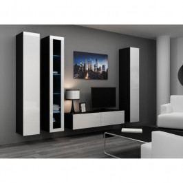 dodání 30 dní - Luxusní nábytek do obýváku VIGO 15 Černý / Bílý lesk