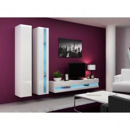 Stylový nábytek do obýváku VIGO NEW 5 Bílý / bílý lesk