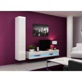 dodání 30 dní - Levná obývací stěna VIGO NEW 9 Bílý / bílý lesk