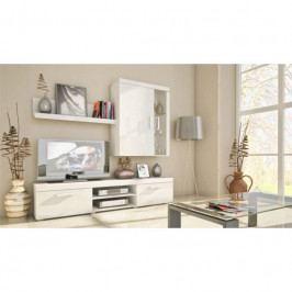 dodání 30 dní - Moderní obývací stěna SAMBA MINI 10 bílý/bílý lesk