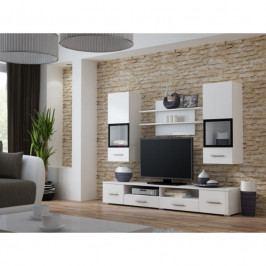 dodání 30 dní - Moderní obývací stěna SNOW Bílý / Bílý