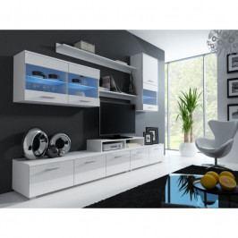 dodání 30 dní - Elegantní obývací stěna JESSIE 2 Bílý / bílý lesk