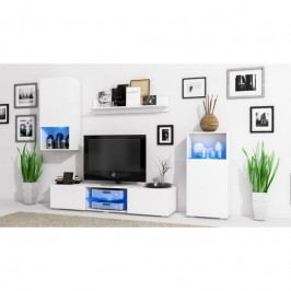 dodání 30 dní - Stylová obývací stěna LOFT Bílý mat / Bílý mat