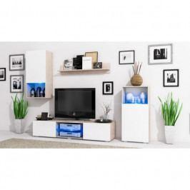 dodání 30 dní - Trendy obývací stěna LOFT Sonoma / Bílý mat