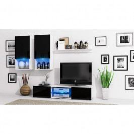 dodání 30 dní - Stylová obývací stěna DECO Bílý / Černý lesk