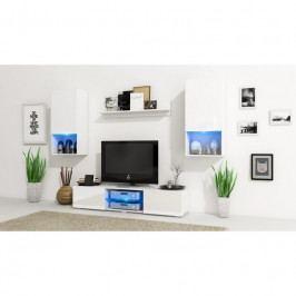 dodání 30 dní - Stylový obývací stěna VERO Bílý mat / Bílý lesk