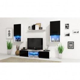 dodání 30 dní - Moderní obývací stěna VERO Bílý mat / Černý lesk