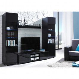 dodání 30 dní - Moderní nábytek do obýváku DAGELO sestava 4 Černý