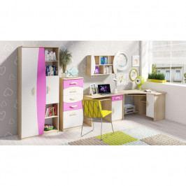 dodání 30 dní - Stylový nábytek do dětského pokoje TENUS II Sestava 3