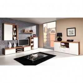 dodání 30 dní - Stylový nábytek do obývacího pokoje SAMBA 3 švestka / krémový