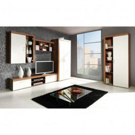 dodání 30 dní - Systémový nábytek do obývacího pokoje SAMBA 4 švestka / krémový