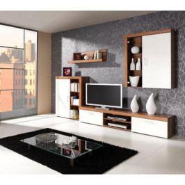 dodání 30 dní - Moderní nábytek do obýváku SAMBA sestava 8 švestka / krémový