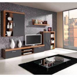 dodání 30 dní - Trendy obývací stěna SAMBA sestava 1 Švestka / Grafit