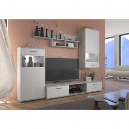 dodání 30 dní - Levné obývací stěny BLUES / SENUAL Bílý / Světlý beton