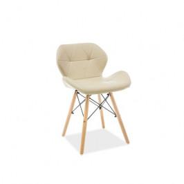Židle MATIAS buk/cappuccino eko-kůže