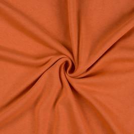 Jersey prostěradlo (90 x 200 cm) - terrakota