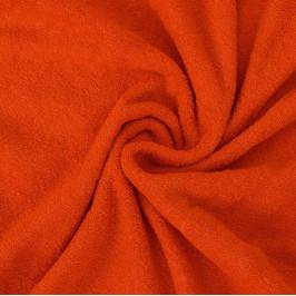 Froté prostěradlo (200 x 200 cm) - oranžové