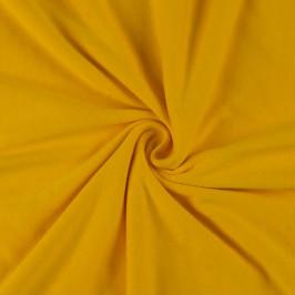 Jersey prostěradlo (100 x 200 cm) - sytě žluté