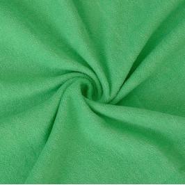 Froté prostěradlo (80 x 200 cm) - zelené
