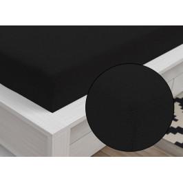 Froté prostěradlo Classic (90 x 200 cm) - Černá