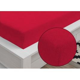 Froté prostěradlo Classic (90 x 200 cm) - Červená