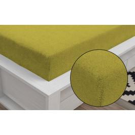 Froté prostěradlo Classic (180 x 200 cm) - Žlutá