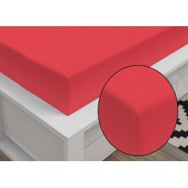 Jersey prostěradlo Classic (140 x 200 cm) - Červená