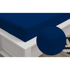 Froté prostěradlo Classic (140 x 200 cm) - Tmavě modrá