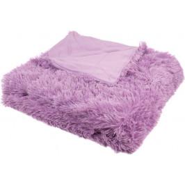 Luxusní deka s dlouhým vlasem - Fialová