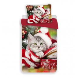 3D povlečení 140x200 + 70x90 - Christmas cat